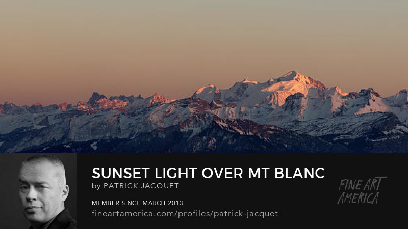 Sunset light over Mt Blanc