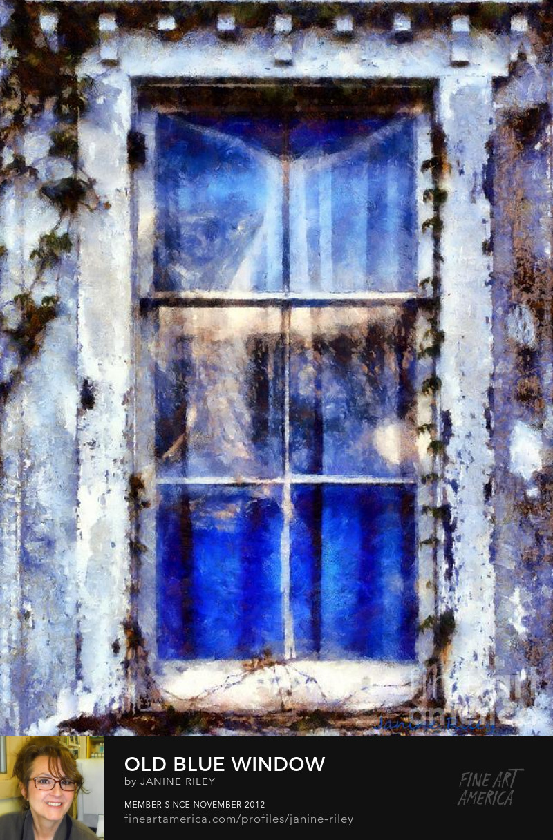 Old blue Window J Riley
