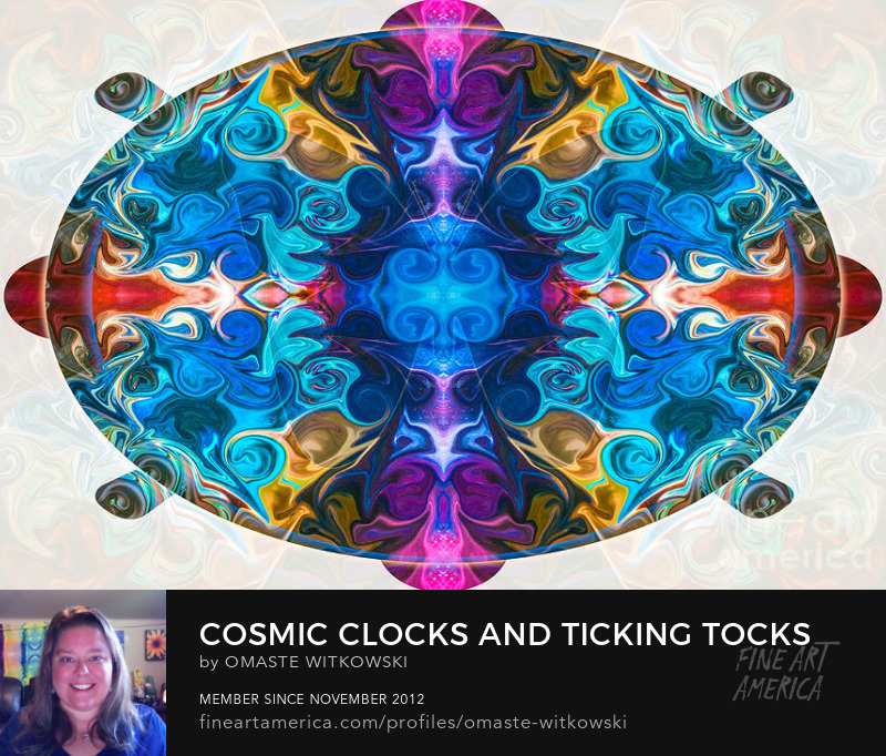 Cosmic Clocks And Ticking Tocks Abstract Shapes and Symbols Art Prints