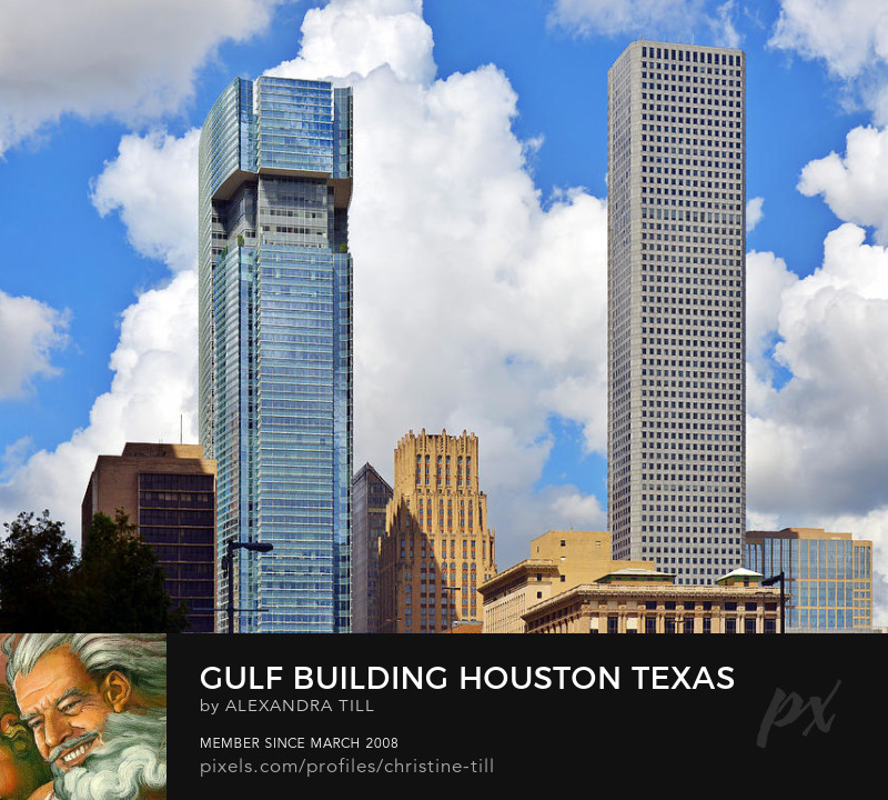 Gulf Building Houston Texas Prints on Sale