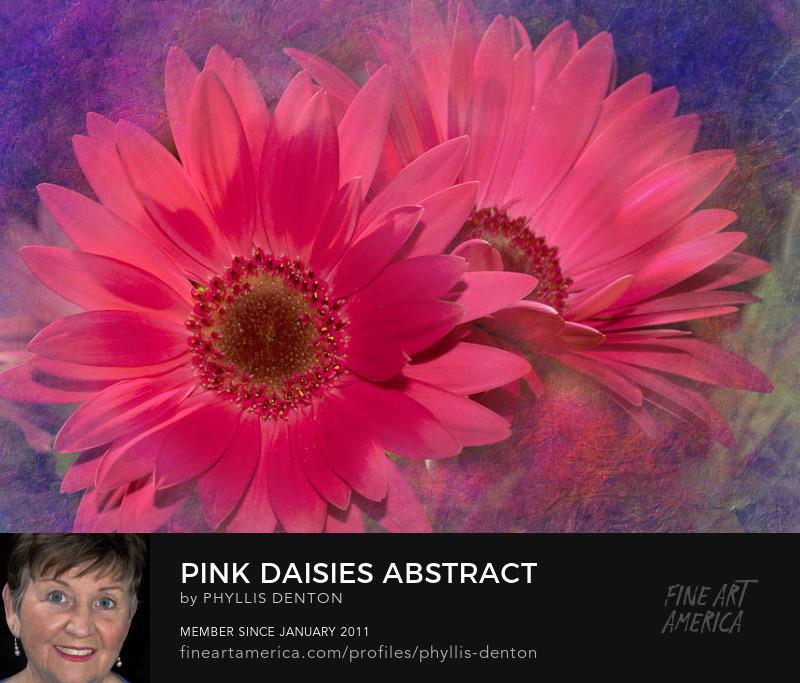 Pink Daisies Abstract digital art by Phyllis Denton