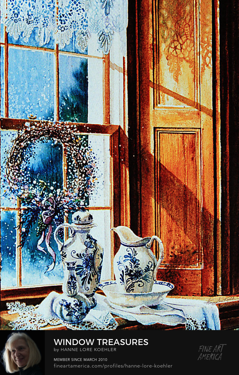 Still Life Painting of Porcelain And Lace