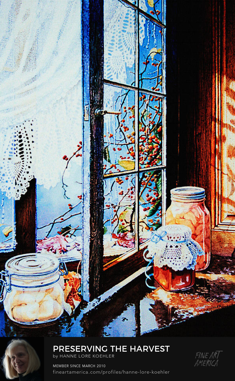 Still Life Painting Of Mason Jars
