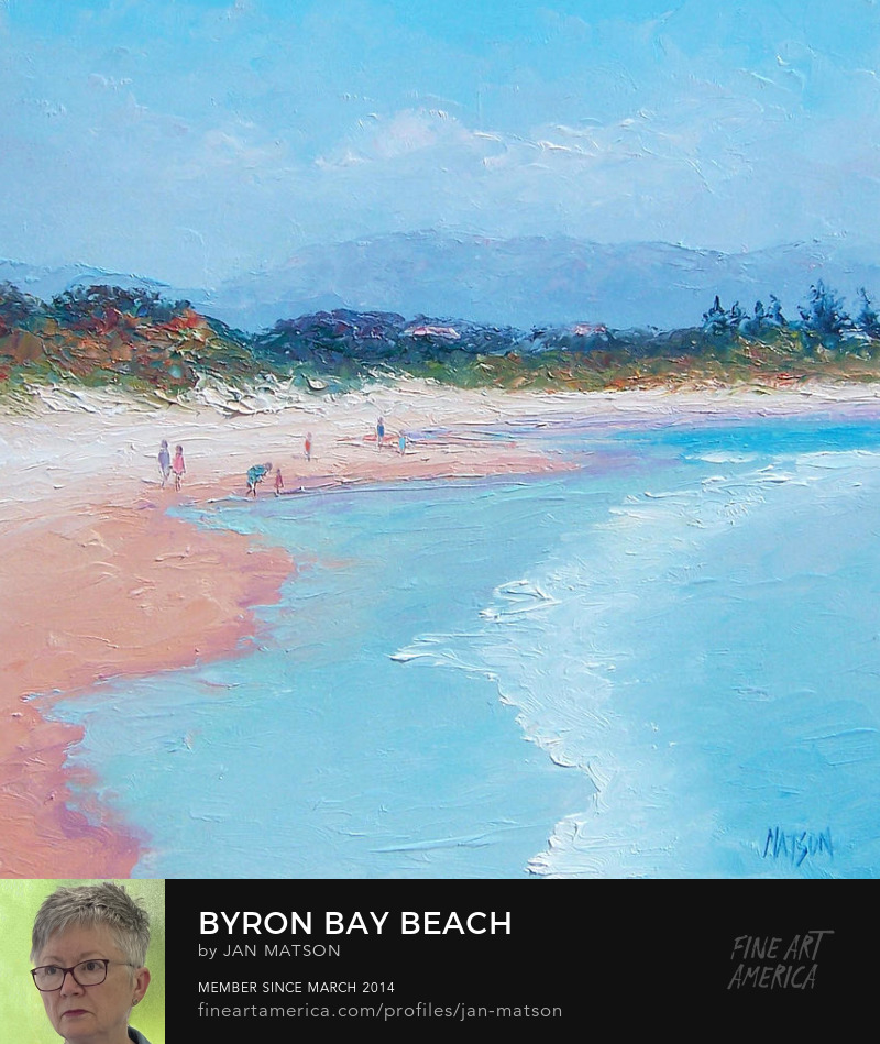 A painting of Byron Bay, in New South Wales, Australia