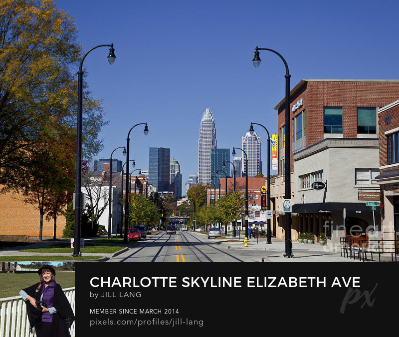 Charlotte skyline from Elizabeth Ave
