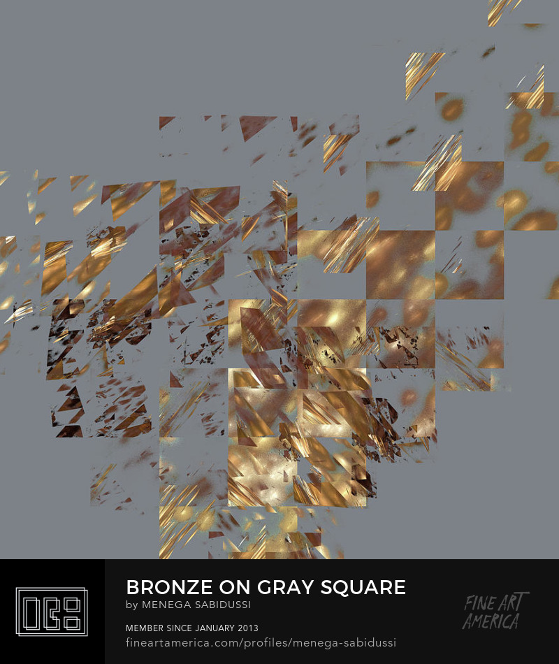 Bronze On Gray Square Digital Abstract Menega Sabidussi