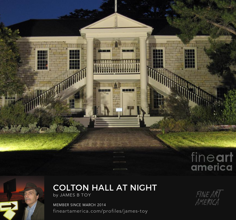Colton Hall in Monterey at night