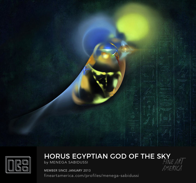 Horus Egyptian God Sky Falcon Digital Fractal Art Menega Sabidussi