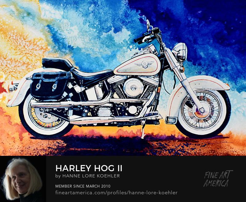 Harley-Davidson Motorcycle Painting And Art Prints