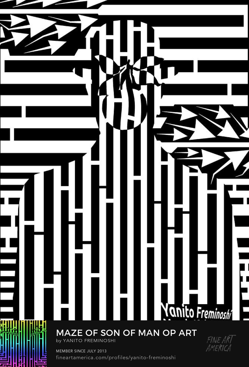 Son of Man Maze BLACK AND WHITE