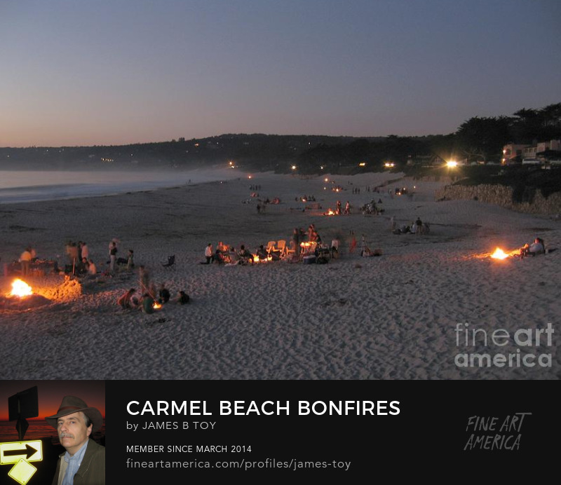 Carmel Beach Bonfires