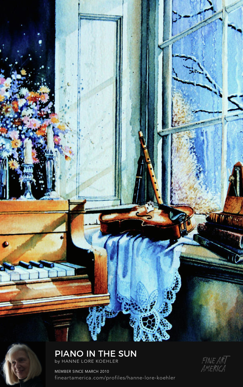 Piano, Violin And Flute Still Life Art Prints