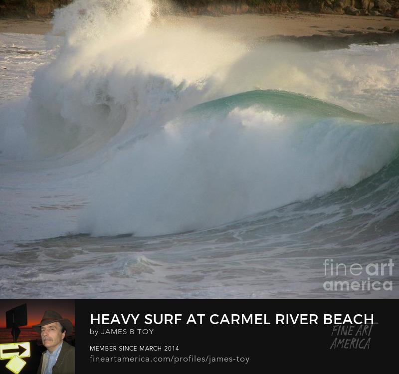 Heavy Surf at Carmel River Beach