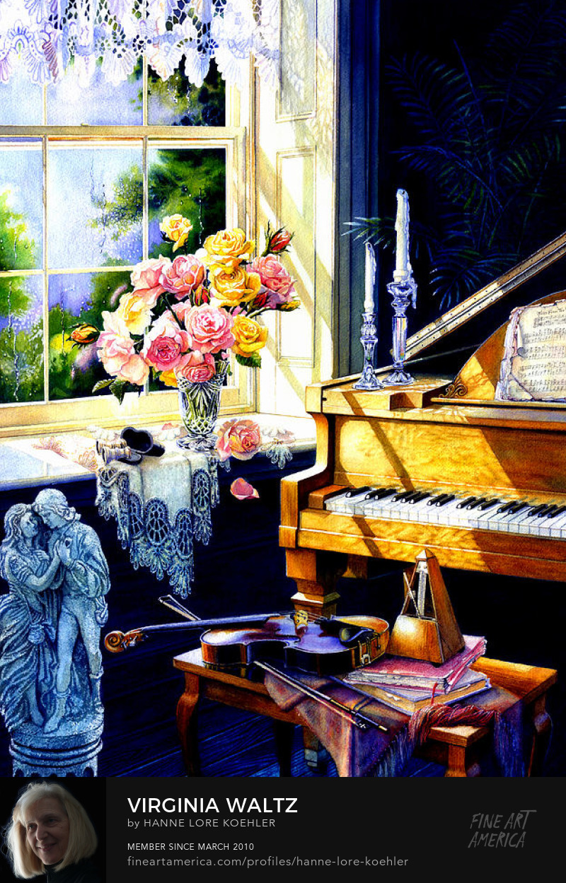 Piano and Violin Still Life Painting