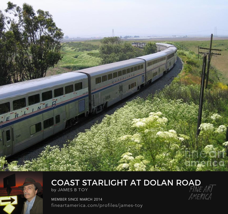 Amtrak Coast Starlight at Dolan Road in Monterey County