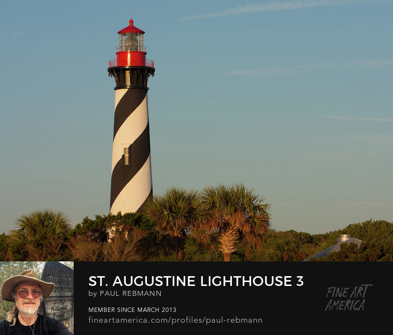 View online purchase options for St. Augustine Lighthouse #3 by Paul Rebmann