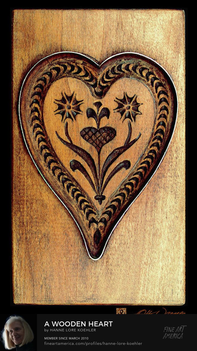 Wooden Heart Art Prints