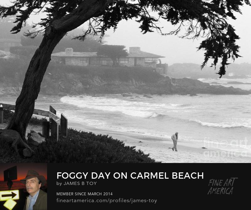 Foggy Day on Carmel Beach