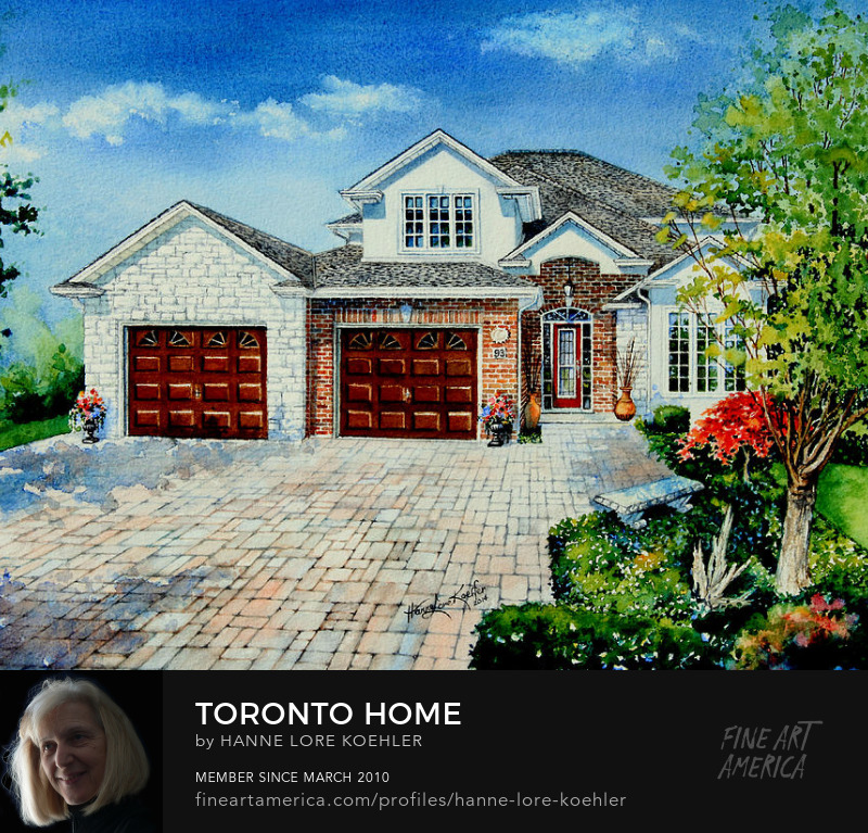 Toronto Realtor Home Portrait Thank You Gift Painting