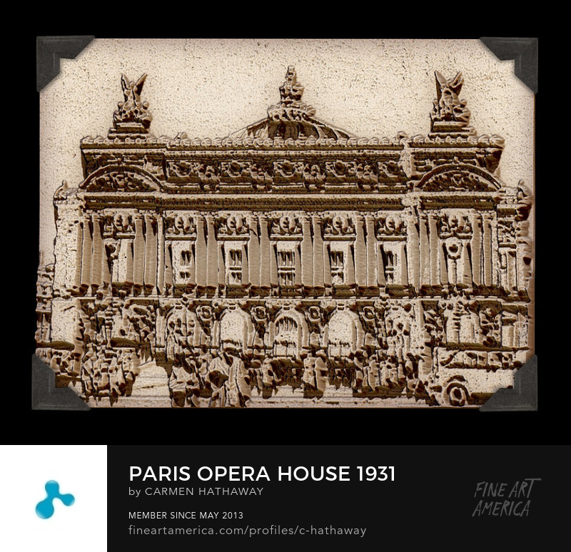 Paris Opera House Palais Garnier 1931 Carmen Hathaway new media original