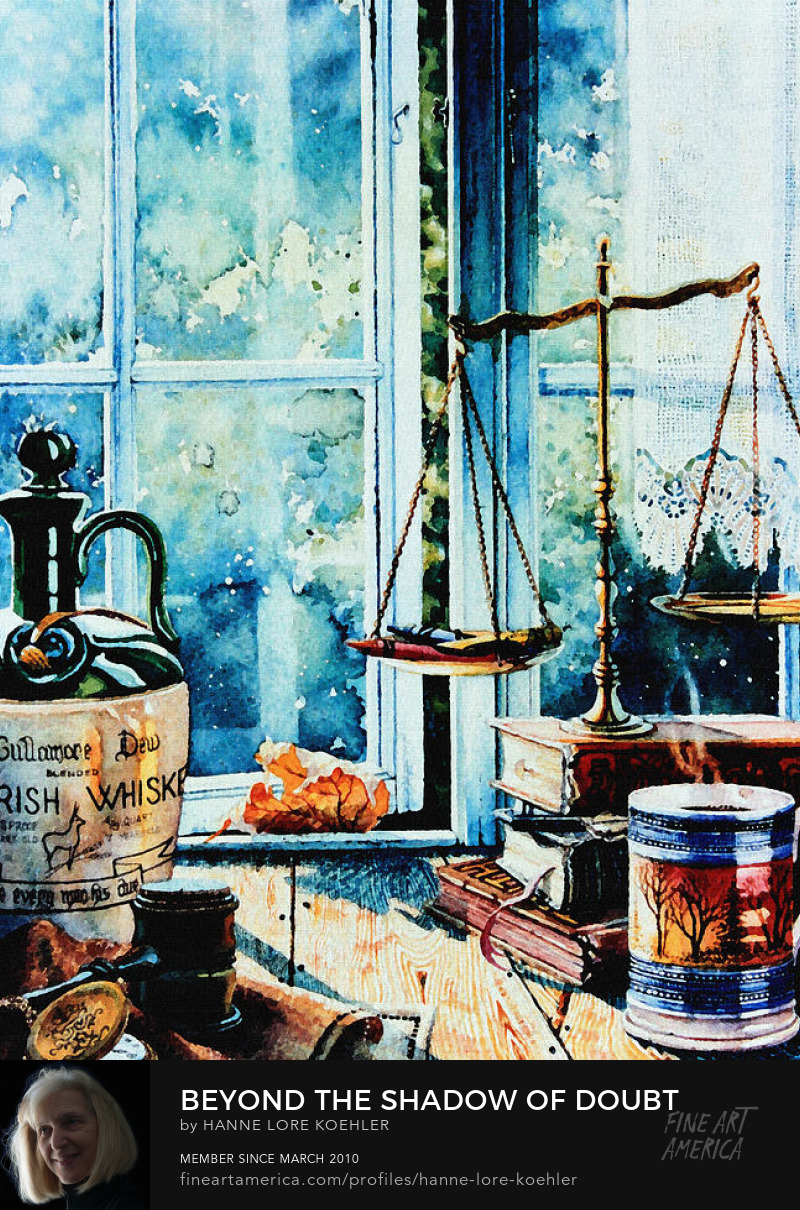Still Life Painting For Lawyers With Scales Of Justice