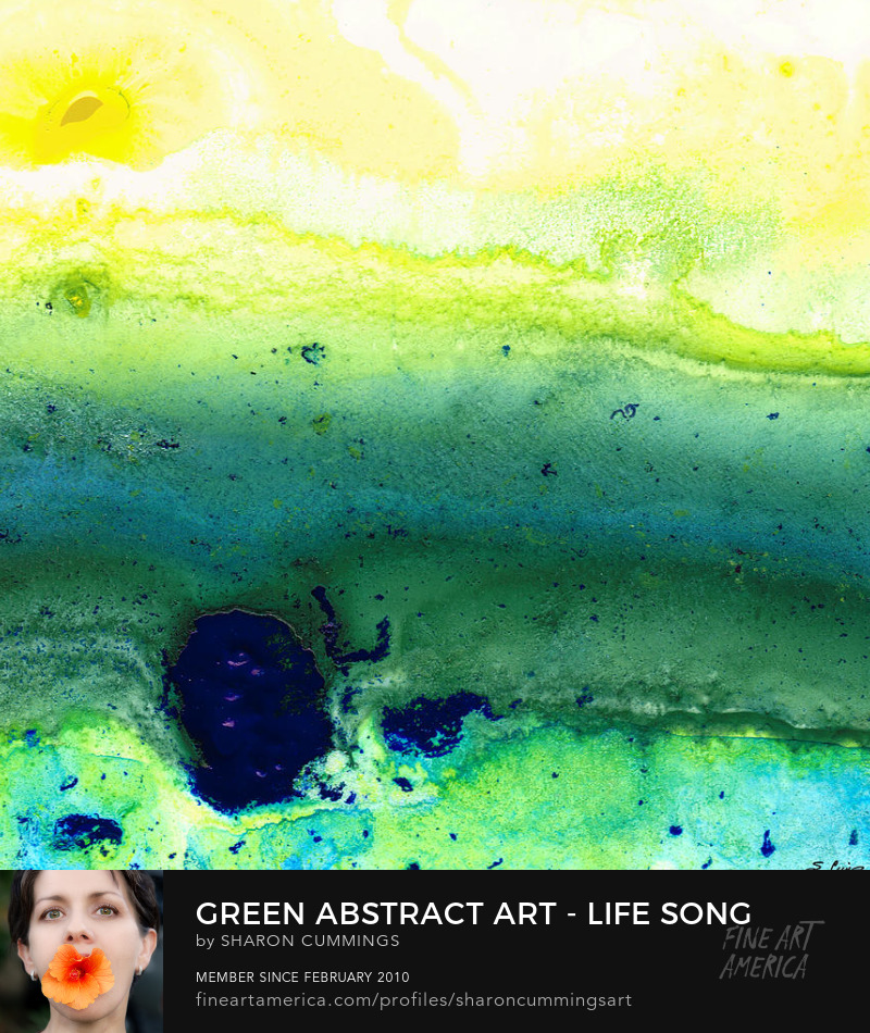 Green Abstract Art Prints For Sale Online
