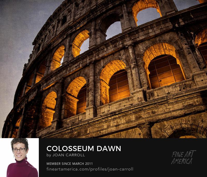 Coliseum Dawn Joan Carroll Photography Digital Art