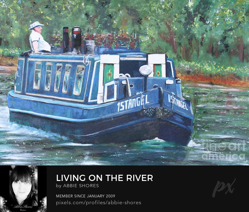narrowboat painting and print by Isabella Shores