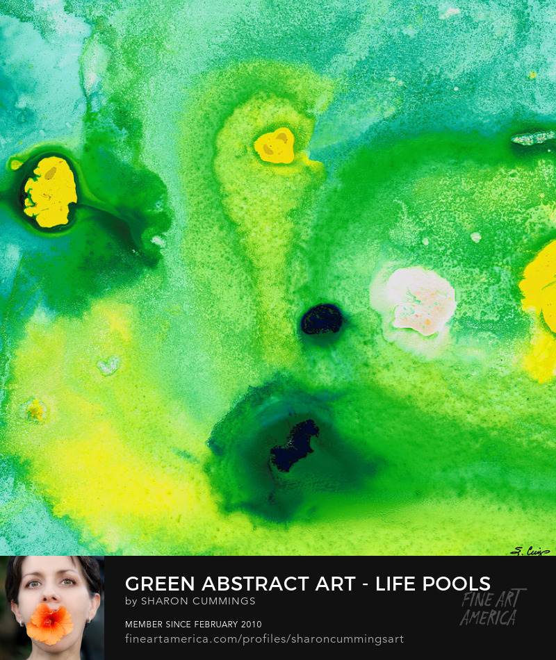 Green Paintings Art Abstract Prints Online