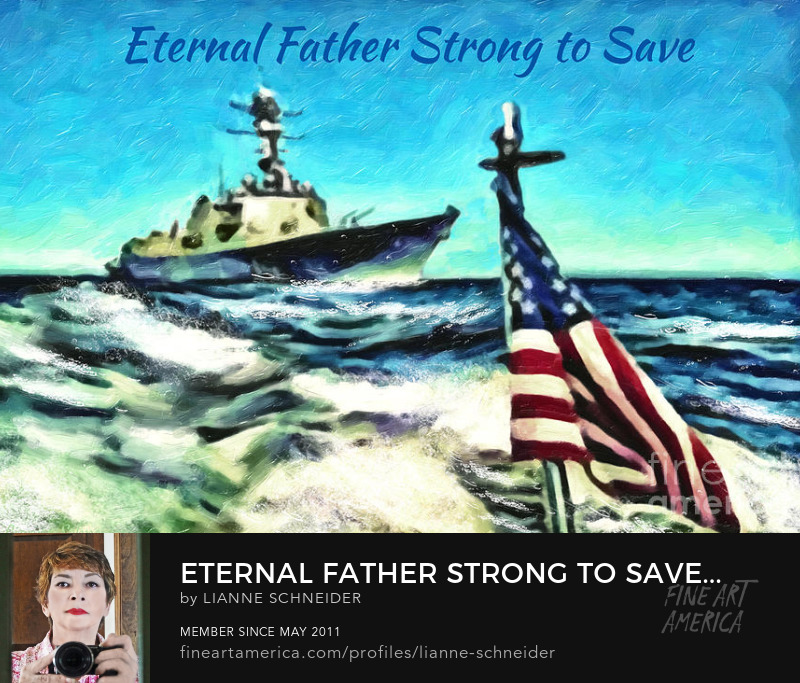 Eternal Father Strong to Save digital painting by Lianne Schneider buy now