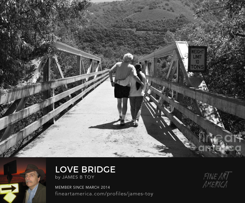Love Bridge entrance to Garland Park in Carmel Valley