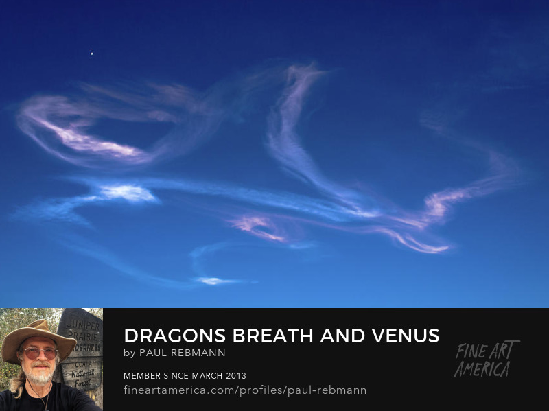View online purchase options for Dragon's Breath and Venus by Paul Rebmann