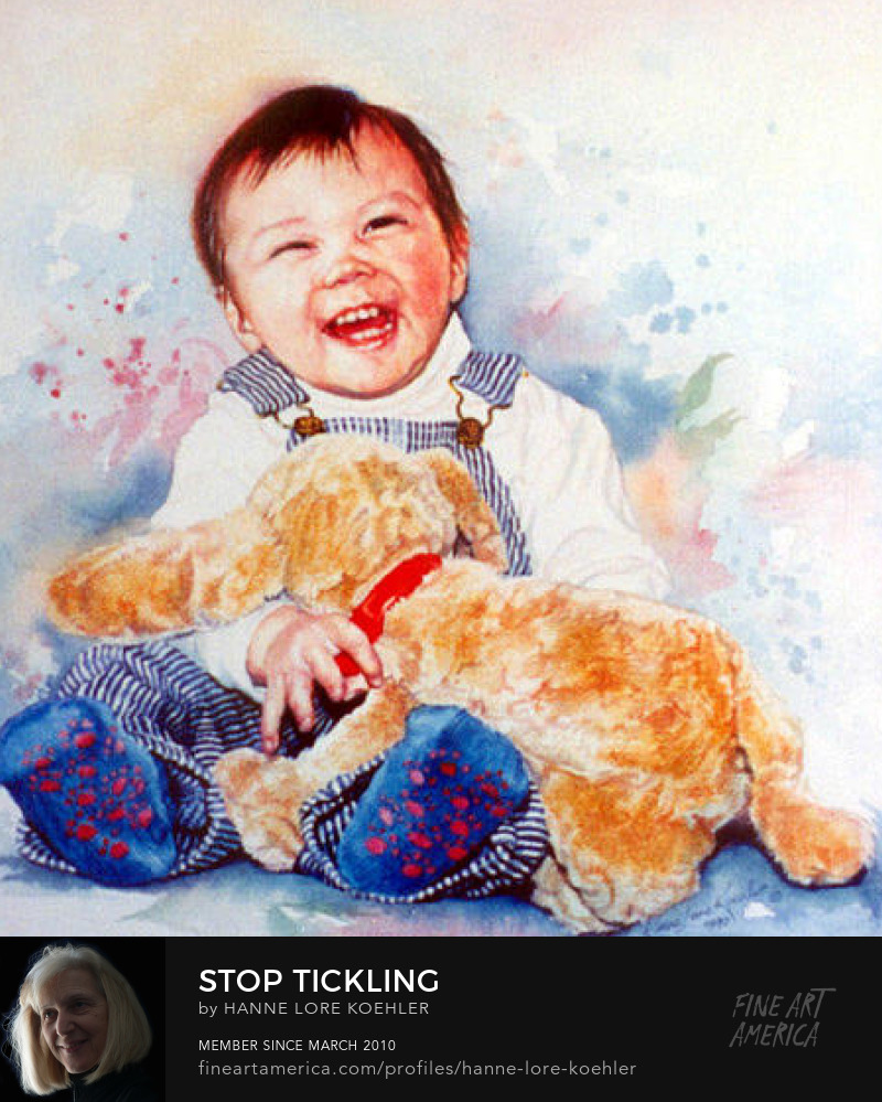 Portrait Of A Happy Baby With Plush Toy