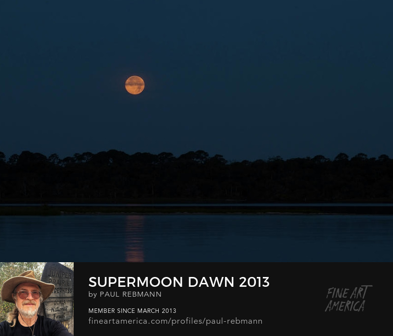 View online purchase options for Supermoon Dawn 2013 by Paul Rebmann