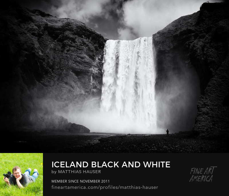 Iceland black and white Art Prints