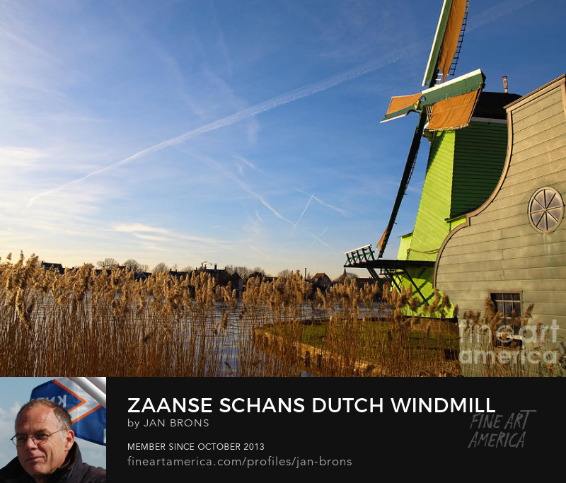 Zaanse schans dutch windmill - Art Prints