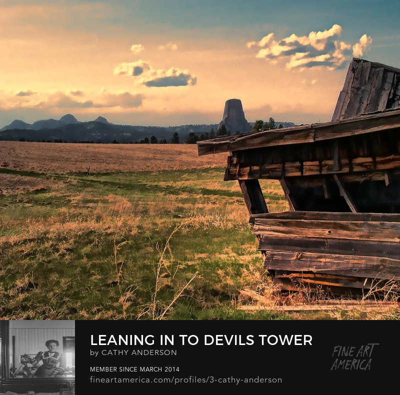 leaning in to Devils Tower