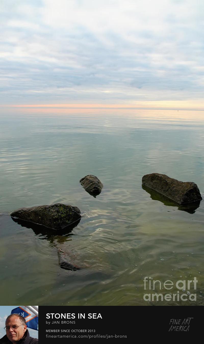Stones in sea - Photography Prints