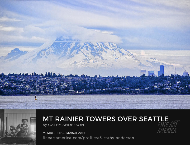 Mount Rainier Towers over Seattle