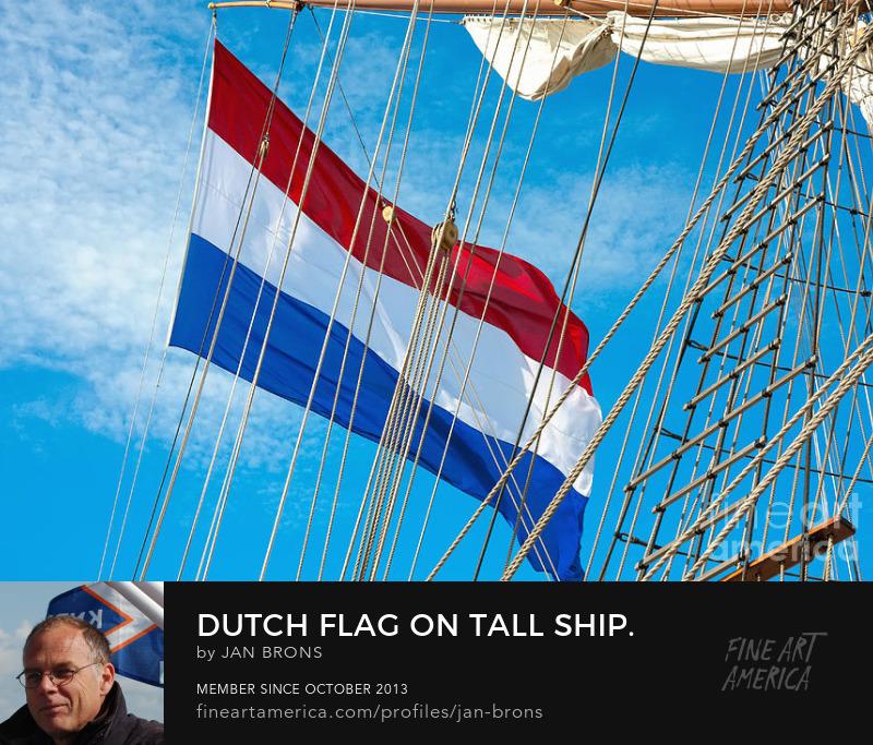 Dutch flag on Tall Ship - Sell Art Online