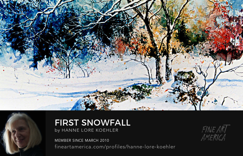 First Snowfall Onto Colorful Autumn Leaves