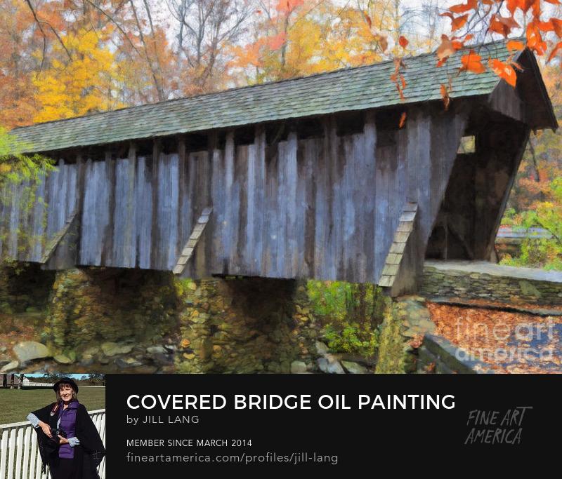 Pisgah Covered Bridge Oil Painting