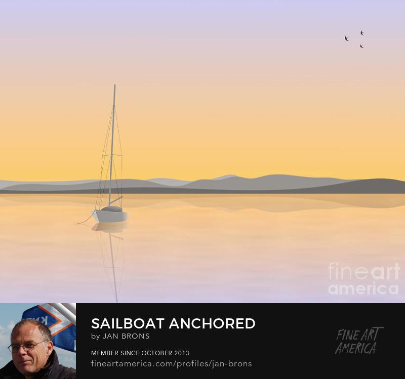 Sailboat anchored - Photography Prints