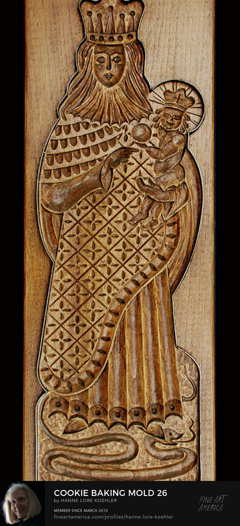 Art Prints of hand-carved wood Gingerbread Cookie molds