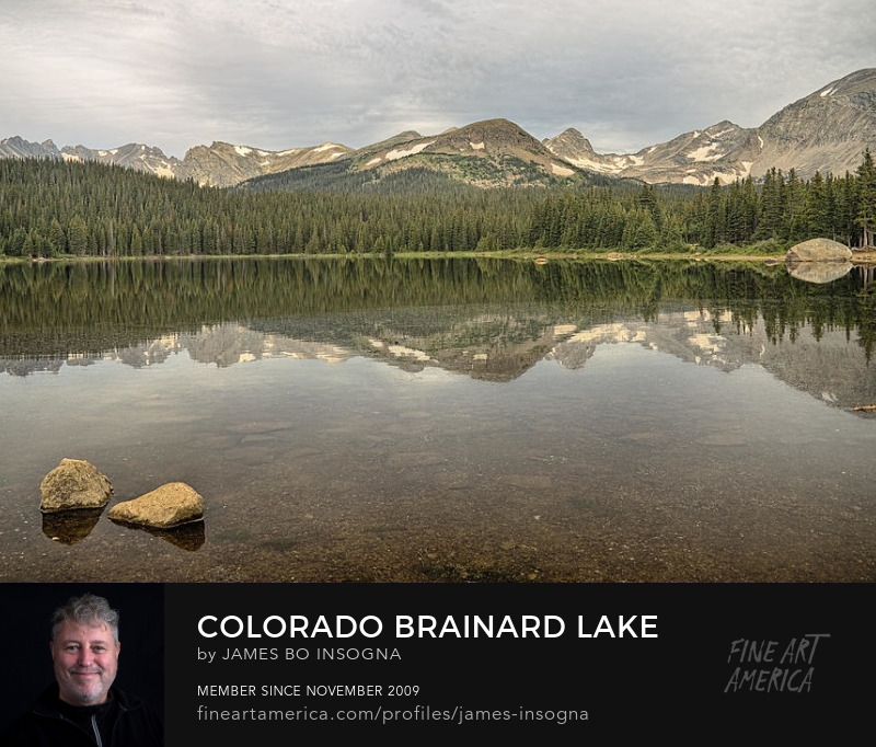 Colorado Brainard Lake Reflection Photography Prints