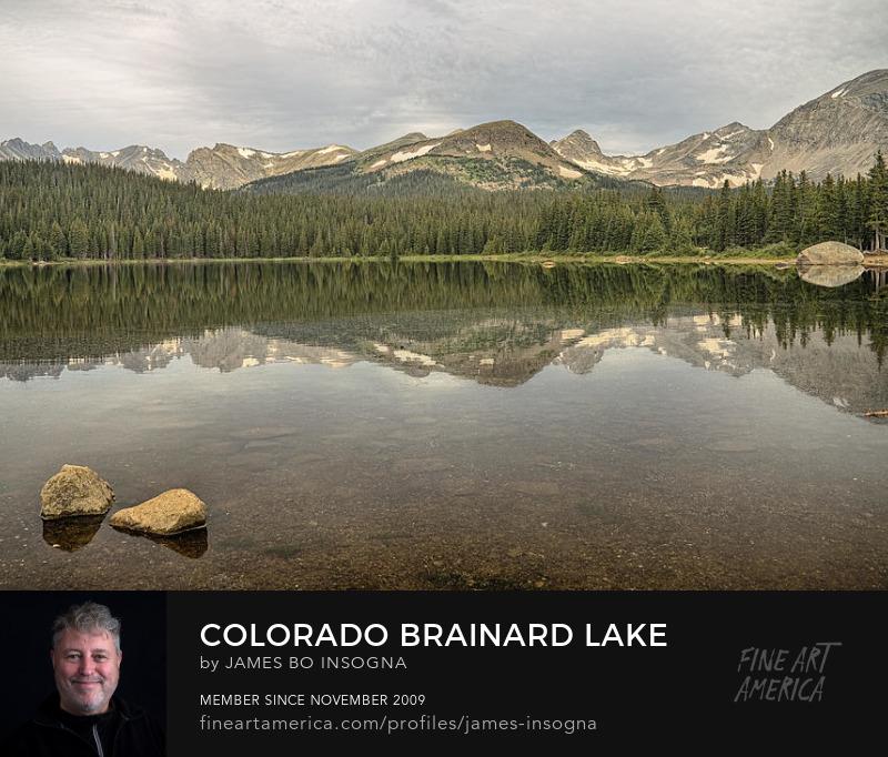 Colorado Brainard Lake Reflection Photography Prints