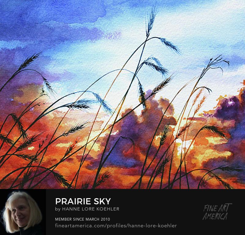 Prairie Storm Clouds Sunset Sky Art Prints