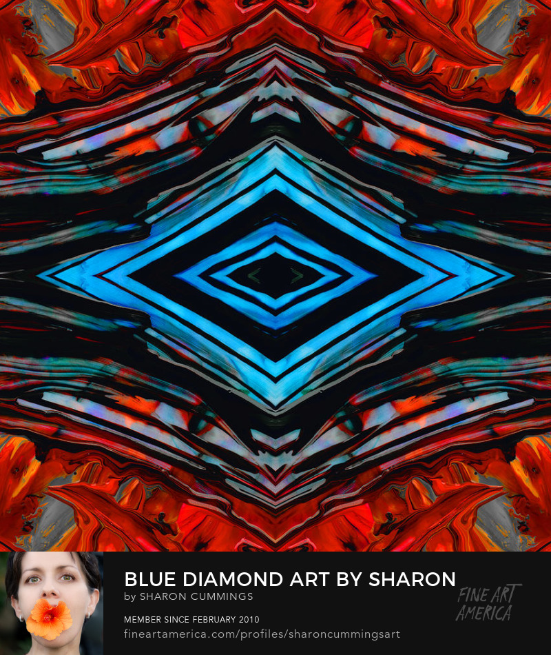 Blue Diamond Art Prints