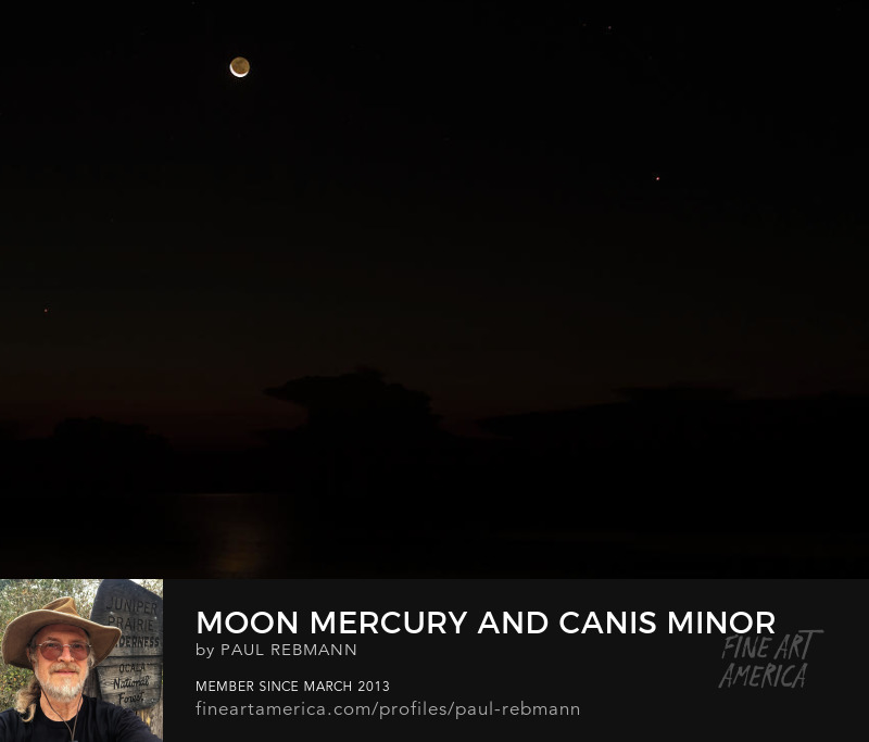 View online purchase options for Moon Mercury and Canis minor by Paul Rebmann