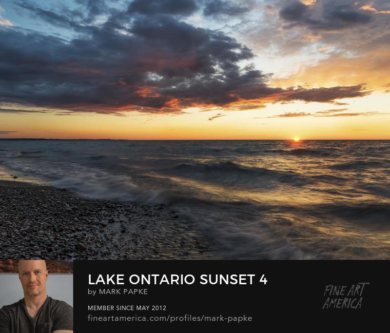 Lake Ontario sunset photo by Mark Papke